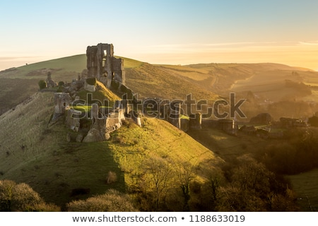 Castelo pôr do sol construção natureza viajar pedra Foto stock © ollietaylorphotograp