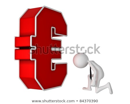 Businessman bending the knee in front of Euro currency symbol Stock photo © Kirill_M