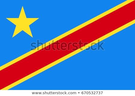 Flagge demokratischen Republik Kongo Wind Stock foto © creisinger
