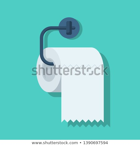 man using toilet paper in bathroom stock photo © lisafx