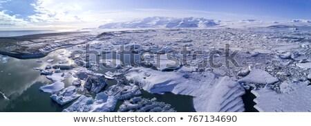 tél · trekking · Izland · utazó · lány · térkép - stock fotó © unkreatives