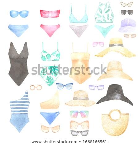 fused turquoise swimsuit Stock photo © RuslanOmega