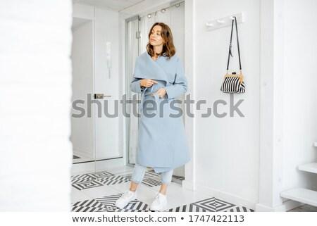 Młoda kobieta korytarzu stałego kobieta sexy Zdjęcia stock © hlehnerer