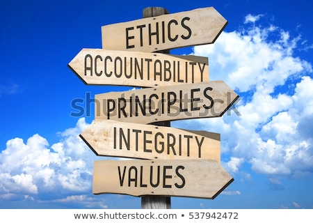 Stock fotó: Ethics And Values Arrows Concept