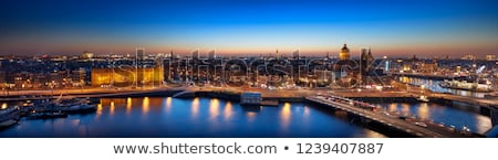 Amsterdam noche panorama vista mar palacio Foto stock © Hochwander
