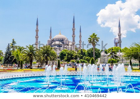 sultanahmet mosque and fountain in istanbul Stock photo © Mikko