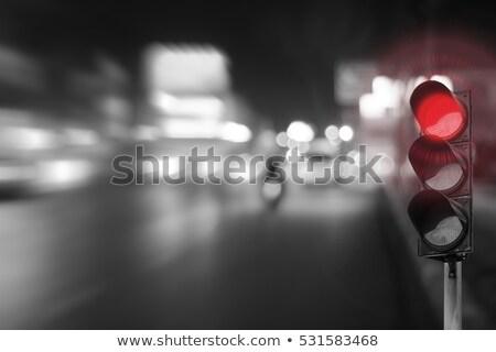 赤 · 信号 · 信号 · 鉄道 · 光 · 金属 - ストックフォト © mycola