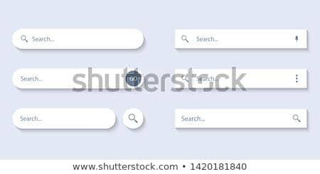 Wyszukiwania bar menu zestaw obraz tle Zdjęcia stock © cteconsulting