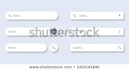 Search Bar Menu Set Stock photo © cteconsulting