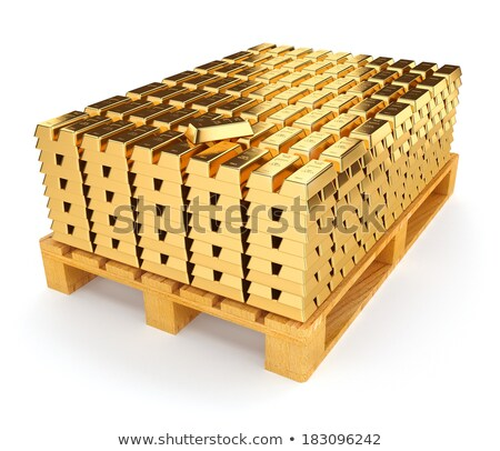 Pallet with bullion of gold Stock photo © LoopAll