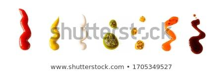 Ketçap gıda arka plan domates beyaz tohum Stok fotoğraf © M-studio