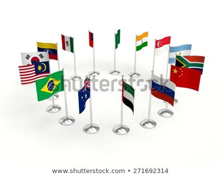 Venezuela kicsi zászló térkép szelektív fókusz hirdetés Stock fotó © tashatuvango