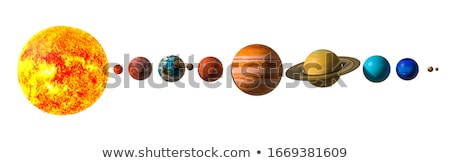 Saturn and earth - 3D render Stock photo © Elenarts