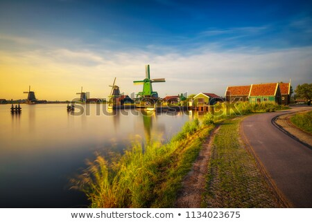 spoorweg · weg · nederlands · platteland · hemel · straat - stockfoto © gigra