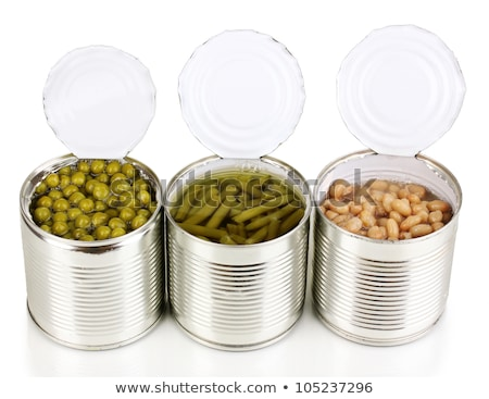 Preserving jar containing french beans, isolated Stock photo © michaklootwijk