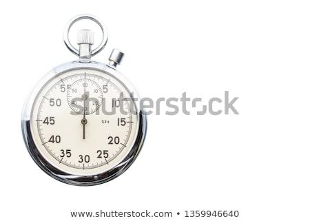 メカニカル · ストップウオッチ · 孤立した · 白 · 手 · 時計 - ストックフォト © kurhan
