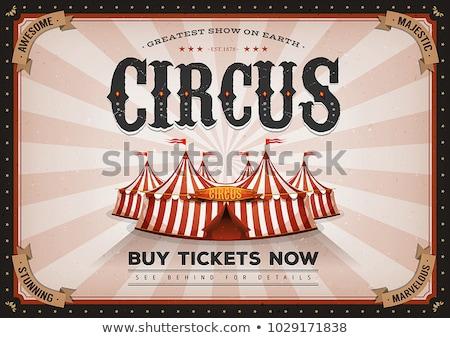 Grunge Horizontal Circus Poster Stock photo © benchart