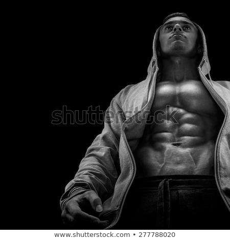 красивый мужчина черный брюшной мышцы человека Сток-фото © Nejron