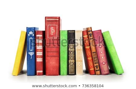 Książki odizolowany biały papieru nauki badania Zdjęcia stock © natika