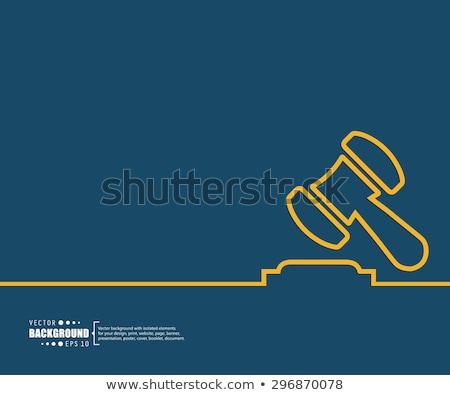 burgerlijk · recht · driehoek · retro · label · ontwerp - stockfoto © tashatuvango