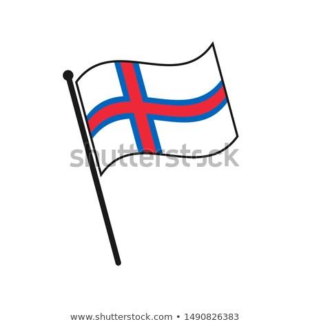 Faroe Islands Small Flag on a Map Background. Stock photo © tashatuvango