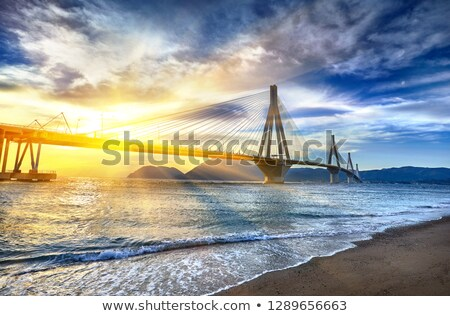 Suspension Bridge Sundown Stock photo © rghenry