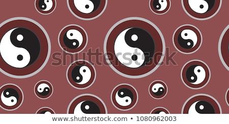 szimbólum · harmónia · egyensúly · felirat · fekete · ázsiai - stock fotó © gladiolus