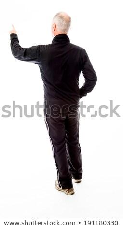 Senior man scolding somebody Stock photo © bmonteny