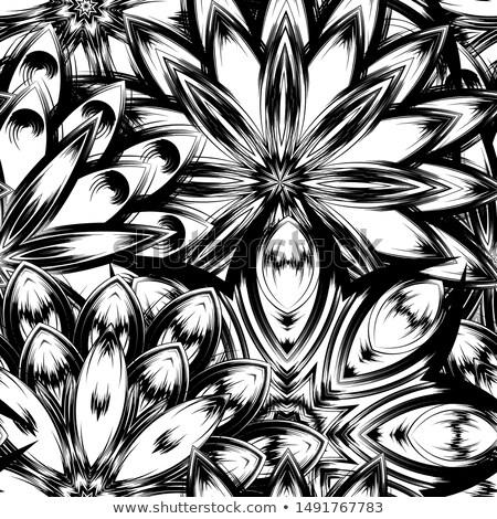 White floristic swirl lace seamless pattern Stock photo © Zebra-Finch