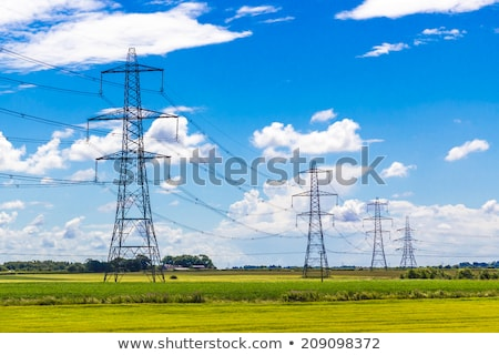 Electricity pylons in a field Stock photo © bmonteny