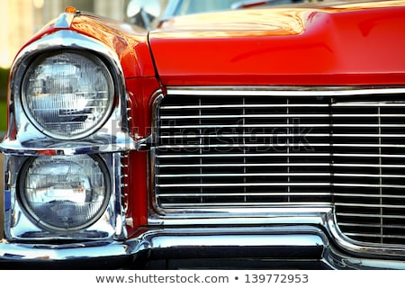 Radiator grille of a red car Stock photo © bmonteny