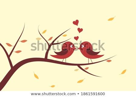 automne · bannières · vertical · arbre · forêt - photo stock © carodi