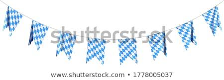 Bunting for Oktoberfest. Bavarian flag pattern.  Stock photo © gladiolus