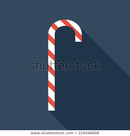 Candy cane in flat style with long shadow Stock photo © gladiolus