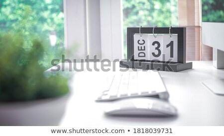 Diciembre escritorio calendario oficina mesa nuevos Foto stock © stevanovicigor