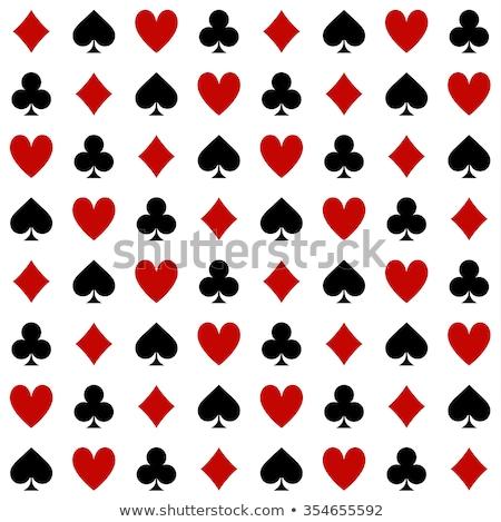 輝かしい ポーカー カード お金 ガラス 石 ストックフォト © carodi