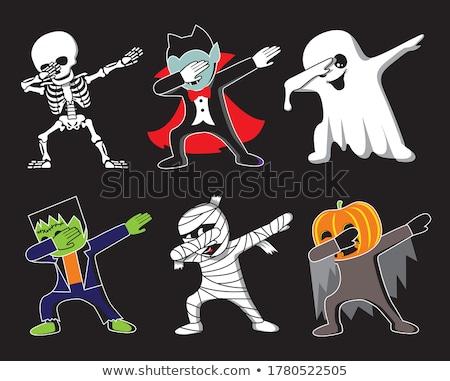 Halloween dracula monstre icônes vecteur Photo stock © RedKoala