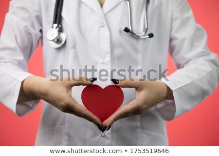 Close Up Of Doctor Holding Cardboard Heart Stock photo © HighwayStarz