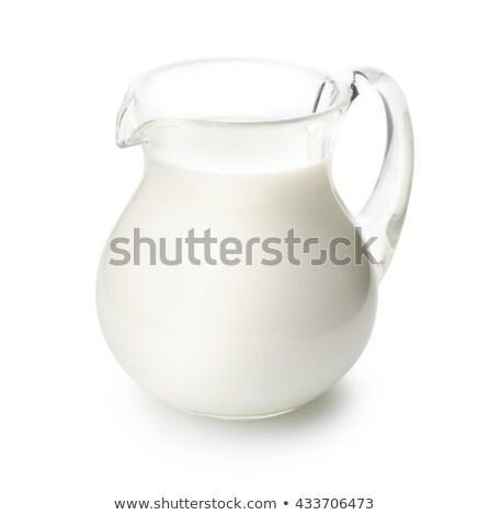 Tejesflakon izolált fehér üveg konyha reggeli Stock fotó © PetrMalyshev