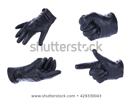 Siyah deri eldiven yalıtılmış beyaz moda Stok fotoğraf © neirfy