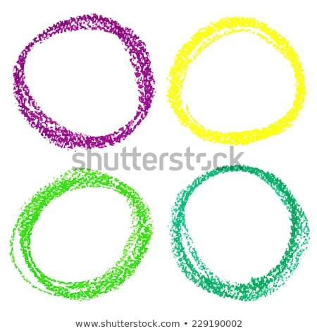 Set cerchio pastello pastello isolato Foto d'archivio © gladiolus