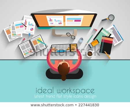 Ideal Workspace for teamwork and brainsotrming  Stock photo © DavidArts