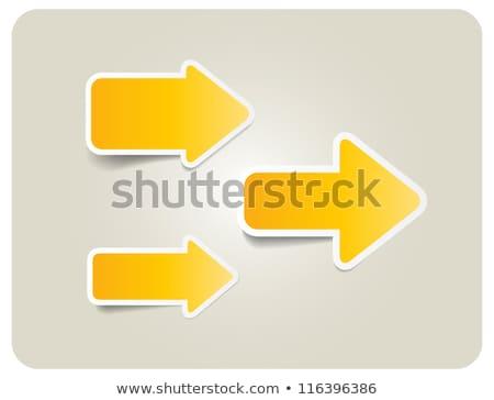 Arrow Stickers Stock photo © UPimages