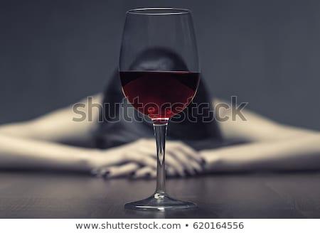 Fiatal nő depresszió iszik alkohol fiatal gyönyörű Stock fotó © Witthaya