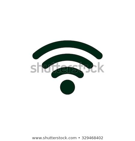 Wifi icono ilustración blanco naranja Internet Foto stock © nickylarson974