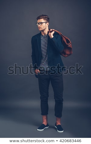 fashion man holding one hand in his pocket stock photo © feedough
