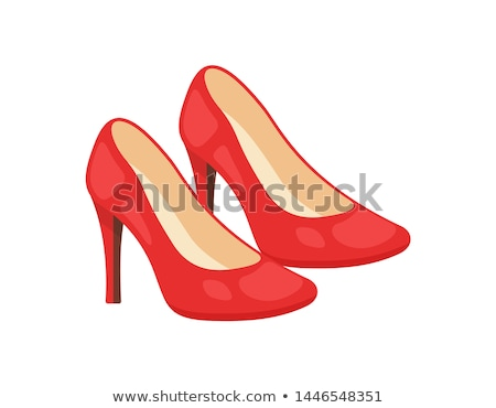 Red High Heel. Vector Illustration Stock photo © blotty