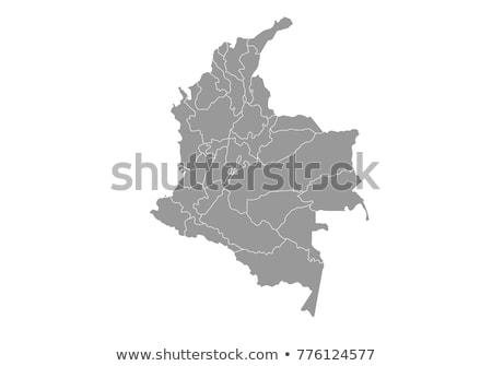 Térkép Colombia különböző szimbólumok fehér város Stock fotó © mayboro1964