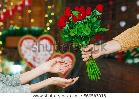 Husband with Valentines Flowers Stock photo © lisafx