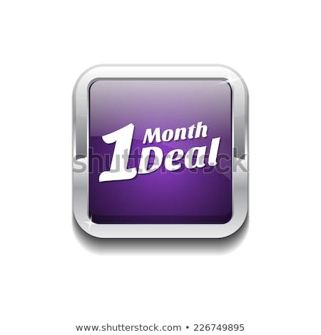 1 месяц дело Purple вектора икона кнопки Сток-фото © rizwanali3d
